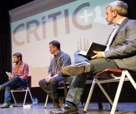Jaume Collboni, a la dreta, durant el #DebatCRÍTIC del passat 17 de març / Foto: Jordi Borràs