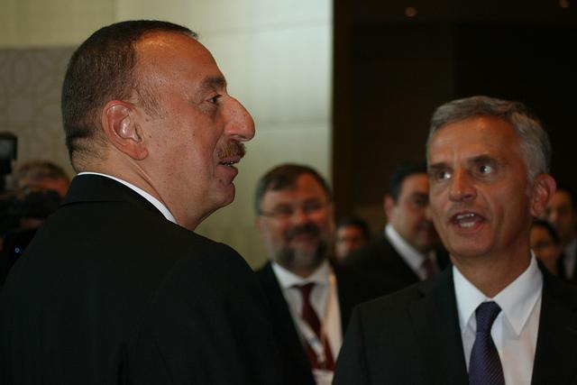El president de l'Azerbaidjan, Ilham Aleyev, en una reunió del Consell d'Europa, el juny del 2014 / OSCE