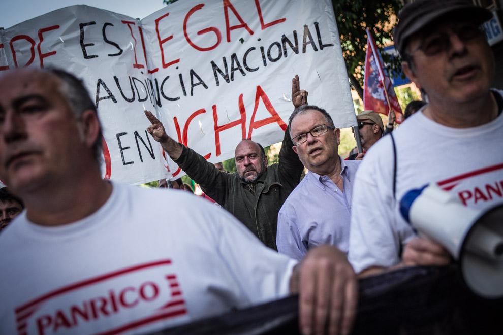 Protesta de treballadors de l'empresa Panrico contra els acomiadaments / JORDI BORRÀS