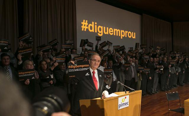 Acte sota el lema 'Diguem prou' organitzat per la patronal Pimec / PIMEC