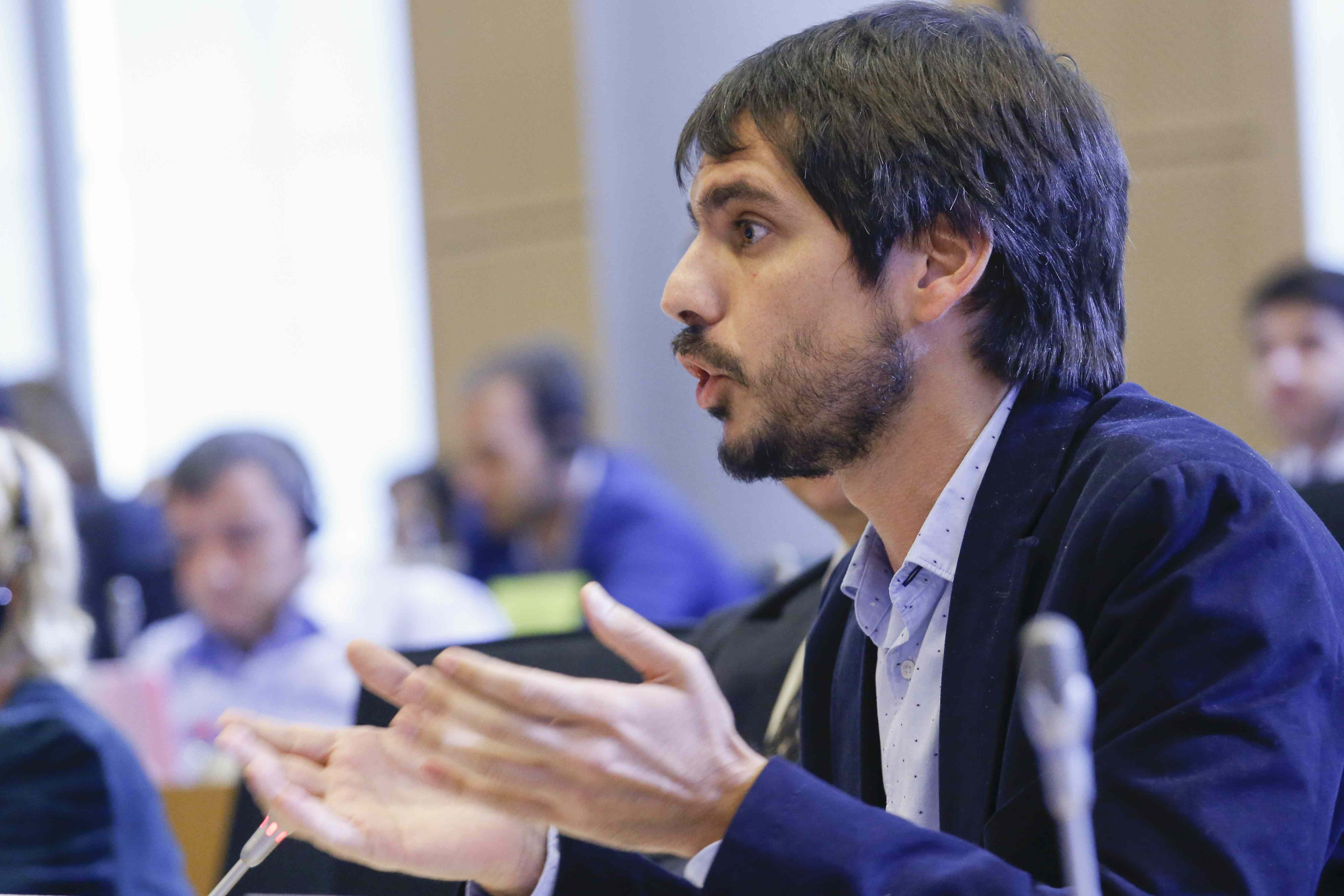 Ernest Urtasun, eurodiputat d'ICV-EUiA, a Brussel·les / PARLAMENT EUROPEU