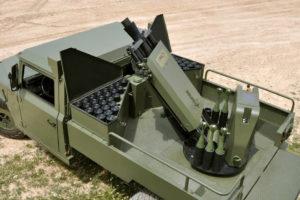 Morter en un vehicle de l'exèrcit espanyol / MAXAM