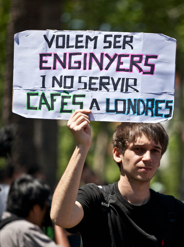 Protesta estudiantil a Barcelona / JORDI BORRÀS