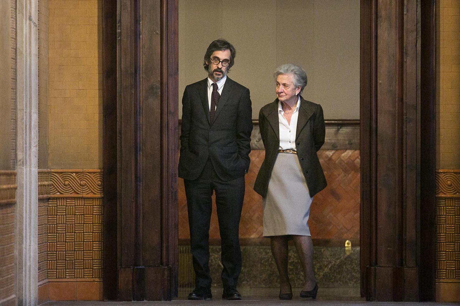 Martell i Marta Ferrusola, al Parlament de Catalunya, abans de la compareixença en la comissió sobre el frau fiscal / CARLOS MORENO