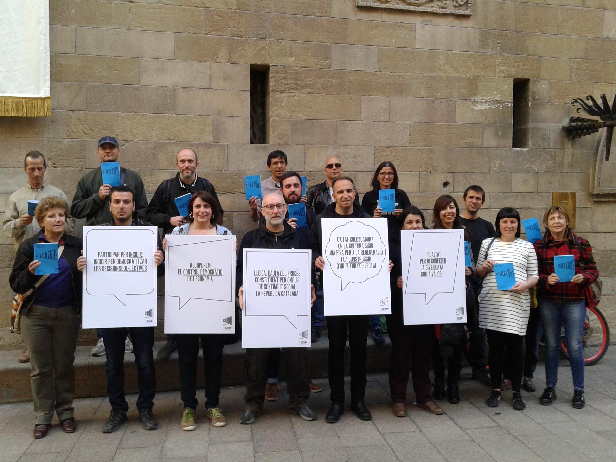 Membres i simpatitzants de la Crida per Lleida / CxLl