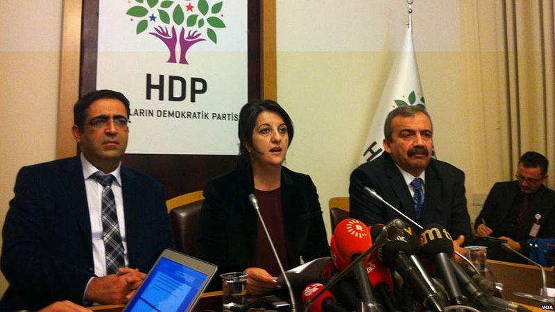 Roda de premsa de l'HDP. Foto: Yıldız Yazıcıoğlu