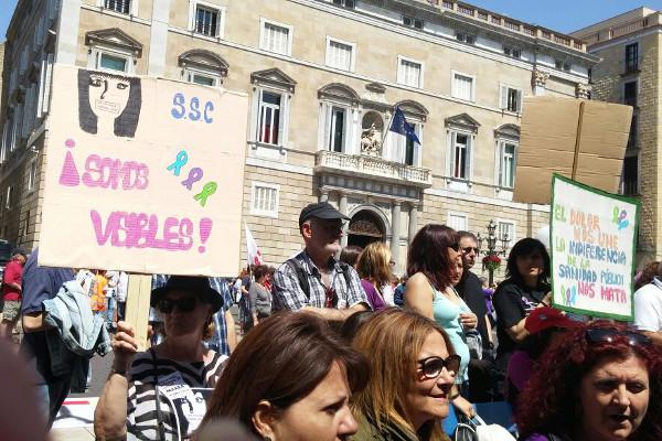 Manifestació a Barcelona el diumenge 10 de maig en el dia de la fatiga crònica per reclamar suport a les institucions / XARXA PENEDÈS