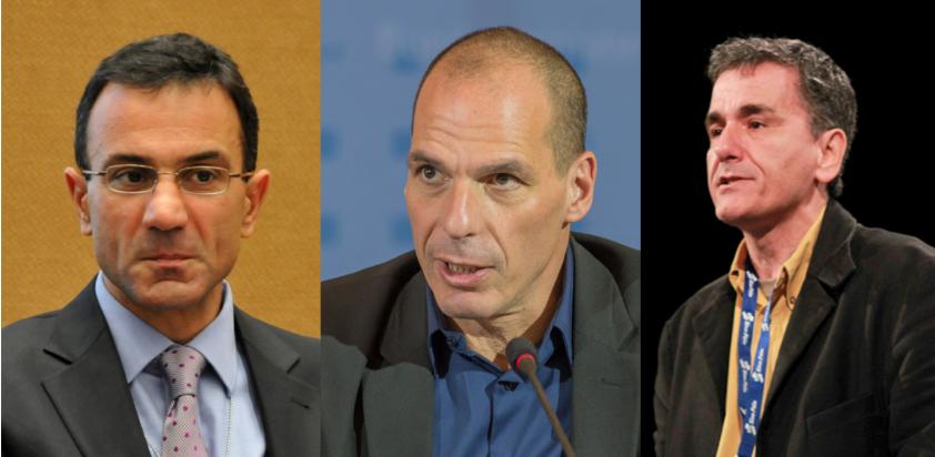 Lapavitsas, Varoufakis i Tsakalotos, economistes grecs que estaven vinculats a Syriza / CRÍTIC