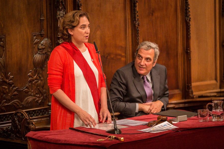 L'alcaldessa Ada Colau, al juny, a l'Ajuntament de Barcelona / JORDI BORRÀS