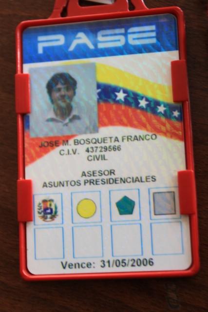 """Passi d'un tal """"José Manuel Bosqueta"""" durant la seva etapa com a assessor a Caracas / MARC FONT"""