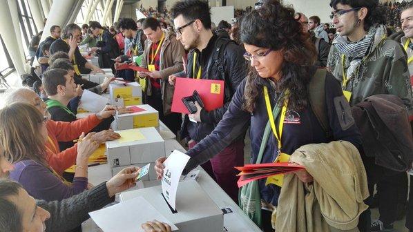 L'assemblea de Sabadell va acabar en un empat imprevisible. Foto: CUP