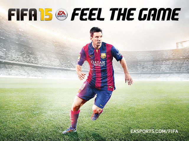 Joc de videoconsola FIFA 15 amb Leo Messi a la portada / EA SPORTS