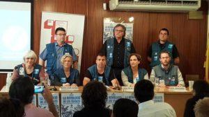 Ada Colau en el moment de signar el Compromís de les escales / @Teleafonica