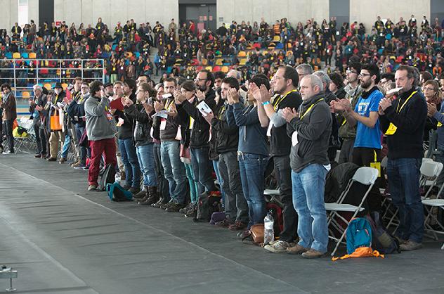 L'assemblea extraordinària que la CUP va fer a Sabadell el desembre / LLUÍS BRUNET