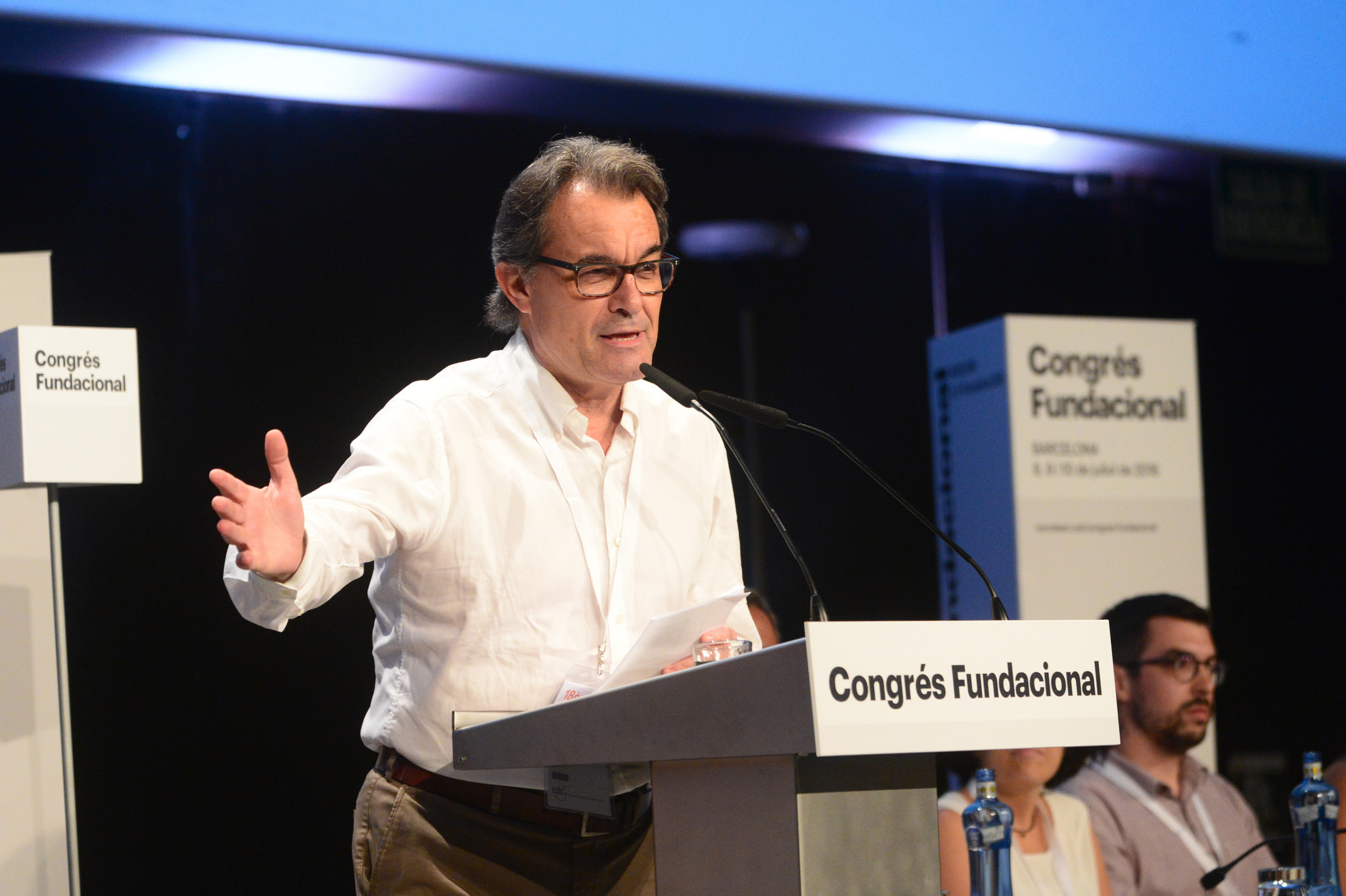 Artur Mas intervé al congrés fundacional del Partit Demòcrata Català.