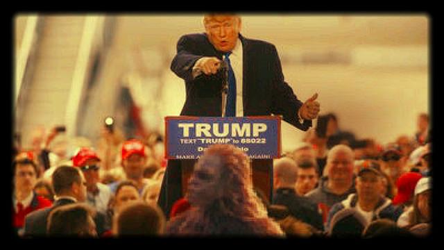 Donald Trump, en un miting