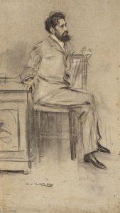 Retrat de Modesto Sánchez Ortiz, director de 'La Vanguàrdia' a finals del XIX, obra de Ramon Casas.