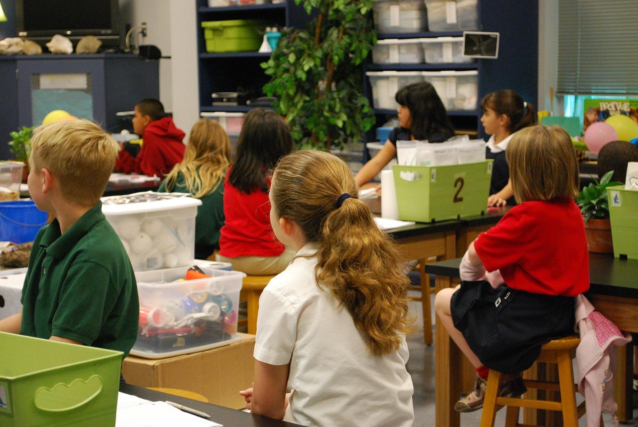 Nenes i nens en una classe de primària / ARXIU