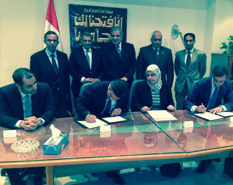 Signatura de l'acord perquè Acciona construeixi una depuradora a El Caire (Egipte) / ACCIONA