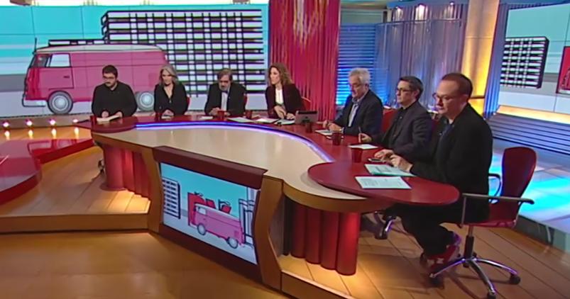 Una de les taules del programa 'Divendres' (TV3), on només hi ha una tertuliana / TVC