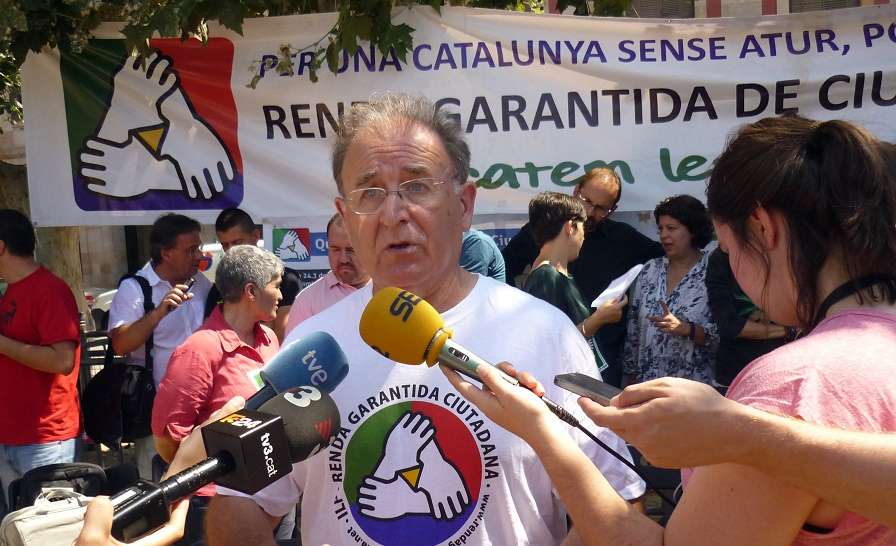 Diosdado Toledano, portaveu de la Comissió Promotora Renda Garantida de Ciutadania / Comissió Promotora Renda Garantida de Ciutadania