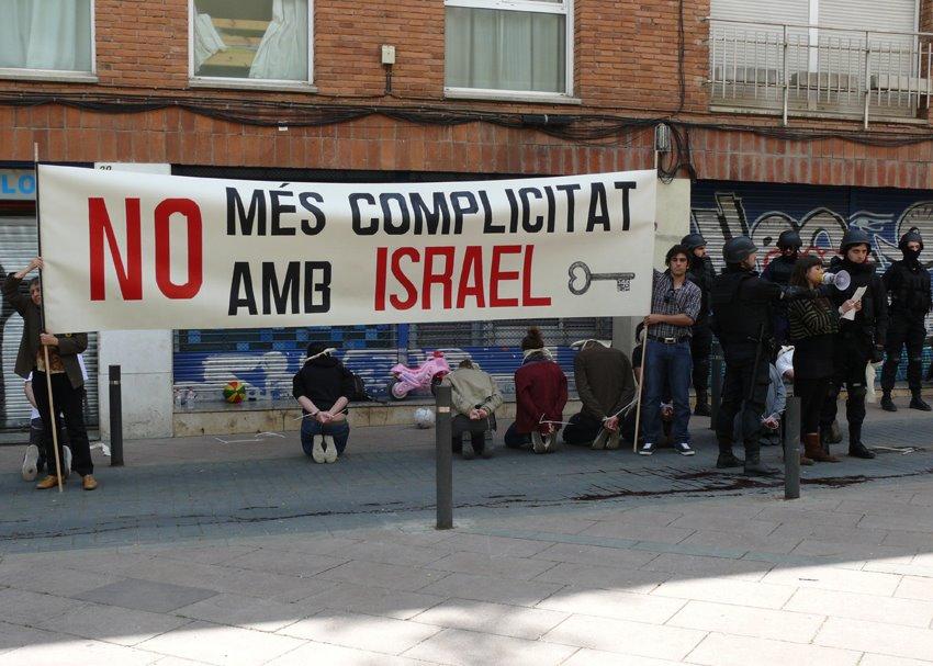 Acte de la campanya 'Prou Complicitat amb Israel'
