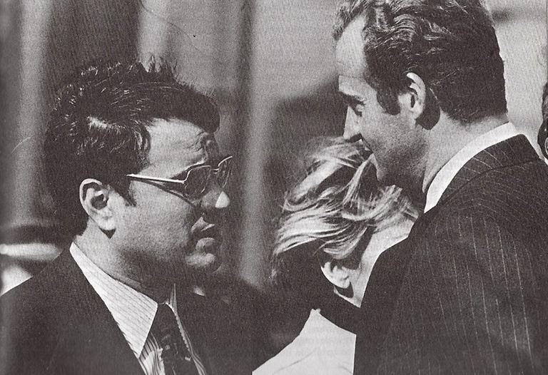 Martín Villa amb el rei Joan Carles al febrer del 1977 / Foto: 'Al servicio del Estado' (Planeta, 1984).