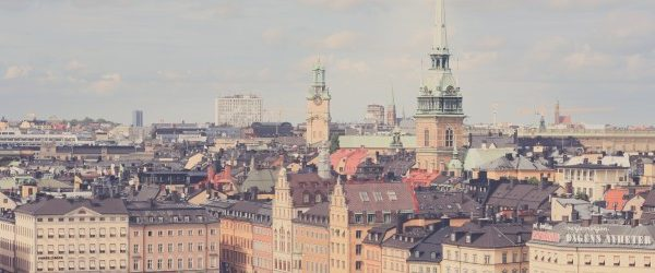Swedish city landscape banner image for research in a global perspective