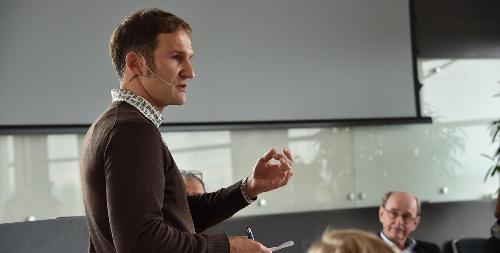 Dan Csontos teaching about grant writing