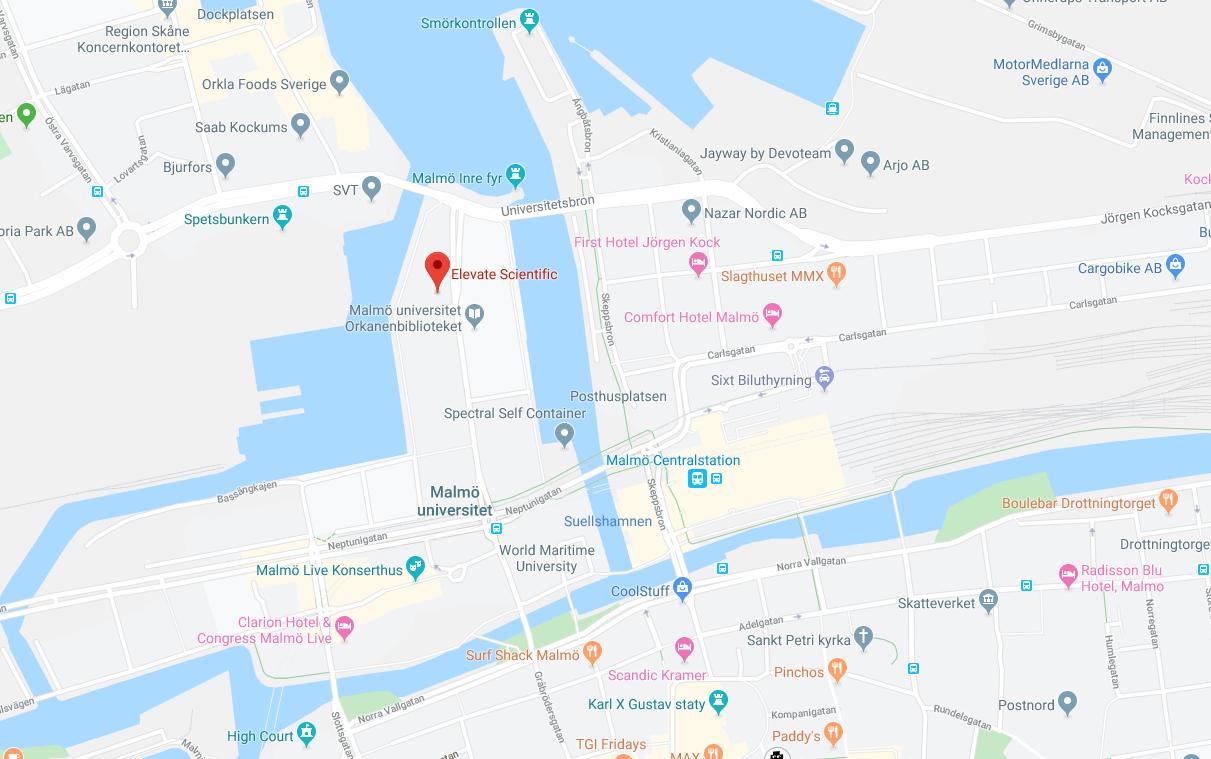 Malmö map