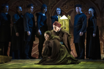 Matlide and Enrico, surrounded by Chorus