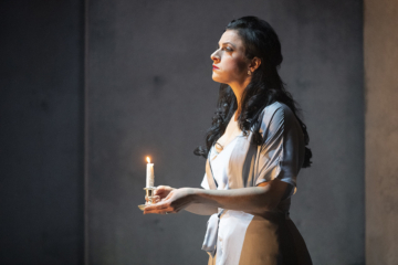 Lady Macbeth holding a candle