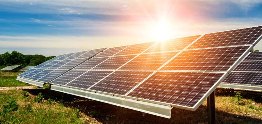 Solar power solar panels in field 662045977