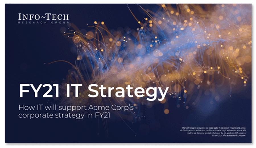 Screenshot of IT Strategy Presentation