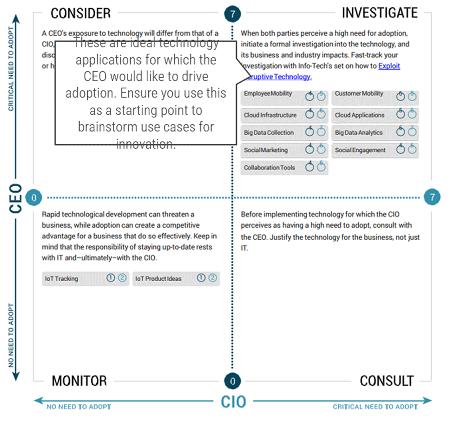 Screenshot of CEO-CIO Alignment Diagnostic
