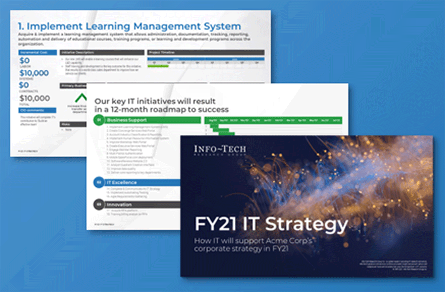 Screenshot of IT Strategy Presentation Template
