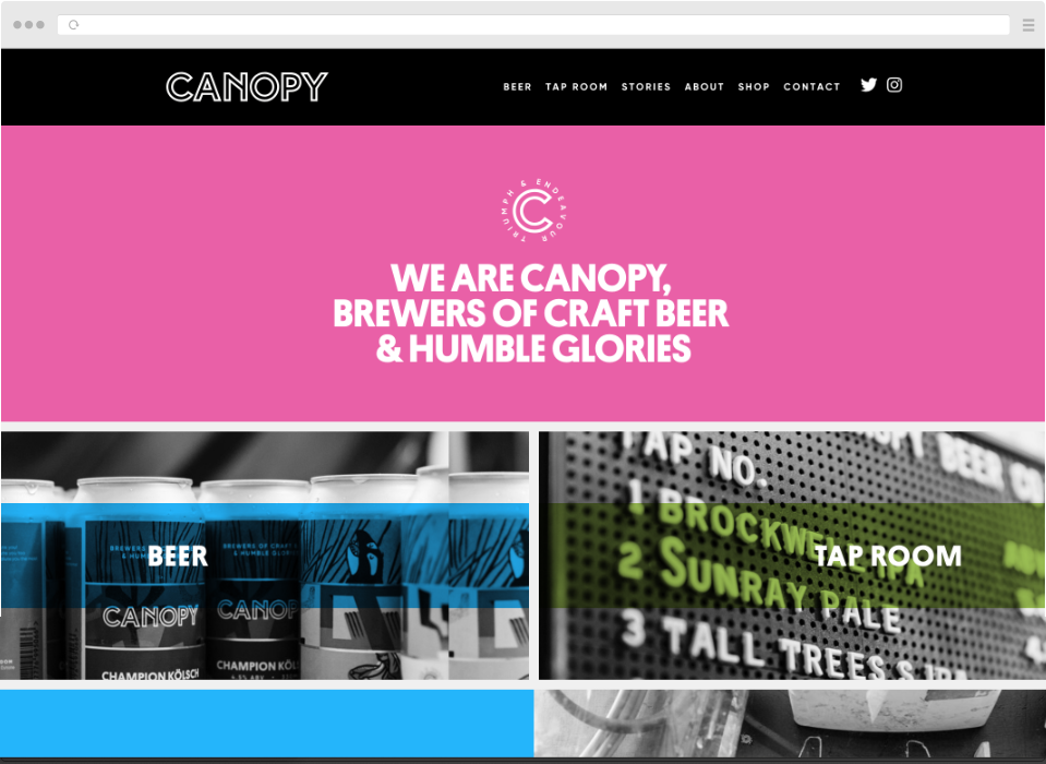 Canopy Beer Co Website by Simon Davies Craft CMS Developer