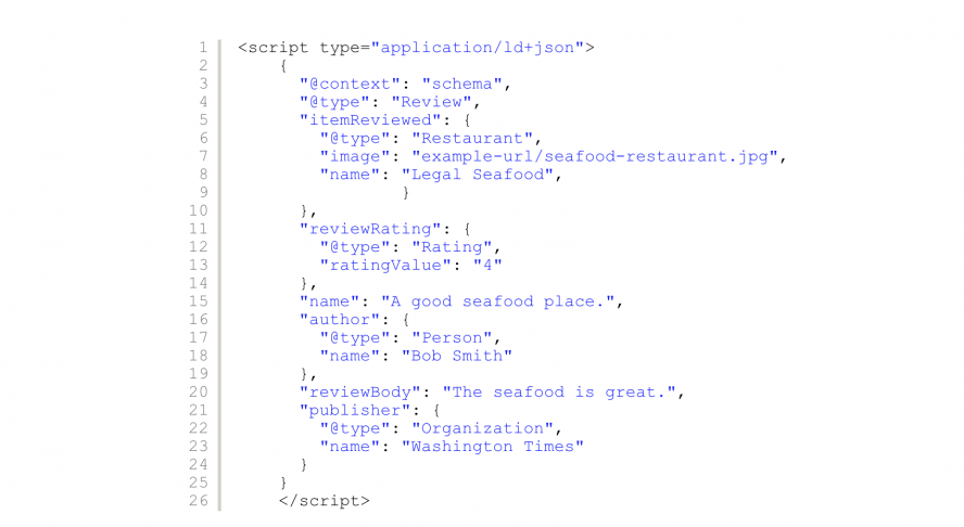 Add a fragment of JSON code