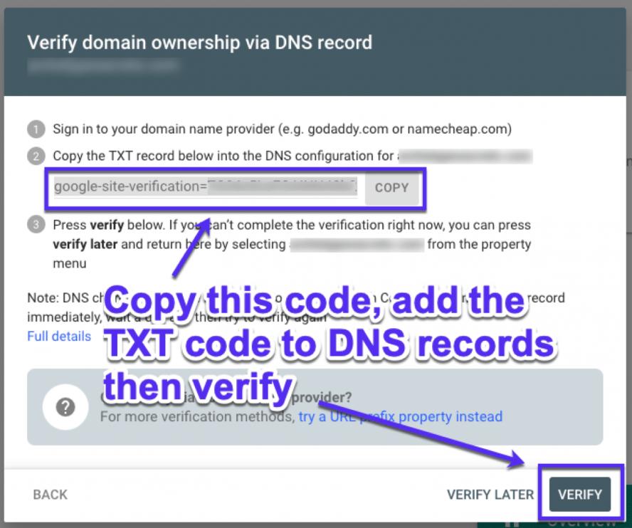 DNS TXT