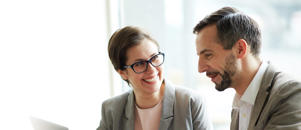 Becoming a client couple talking