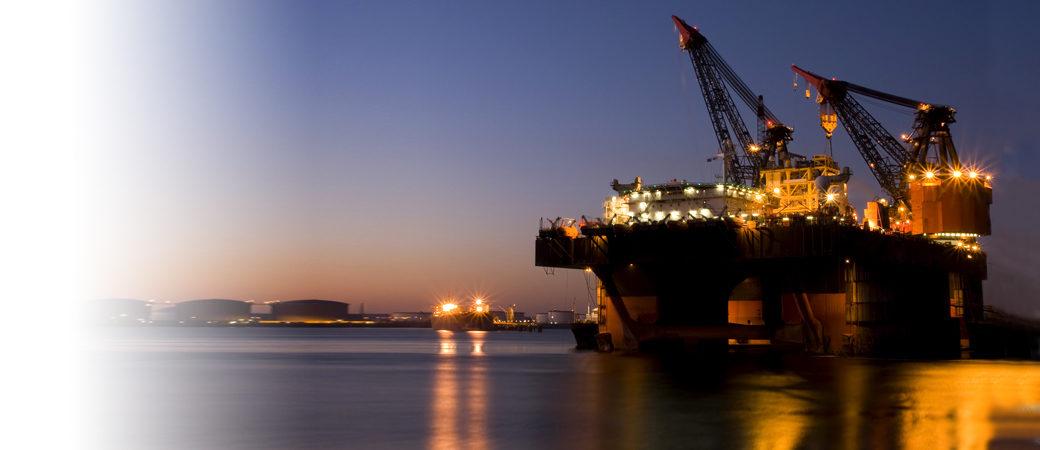 Ports logistics night dock