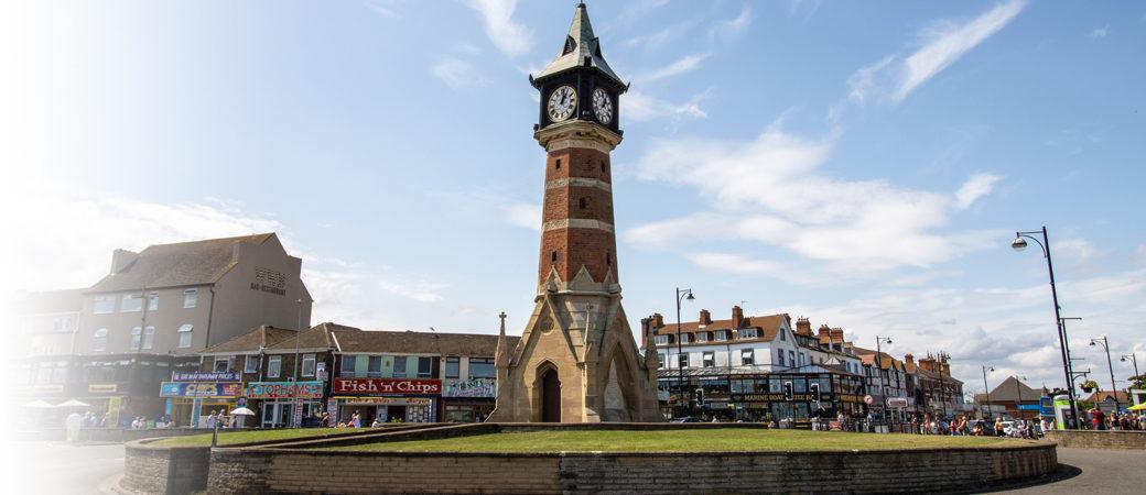 Skegness office clock tower