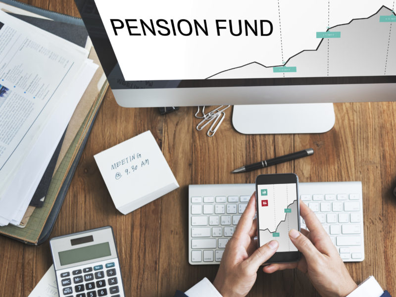 Business finance pensions screen