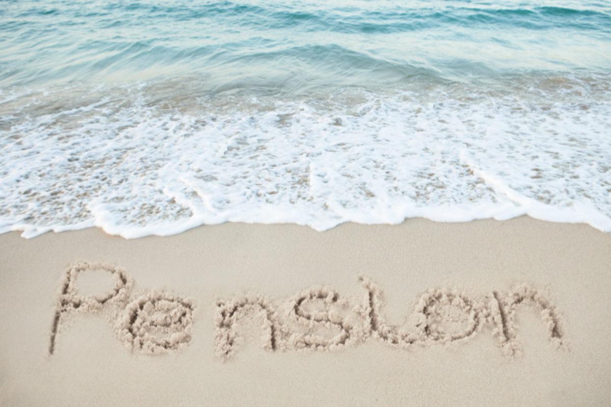 Pensions beach image