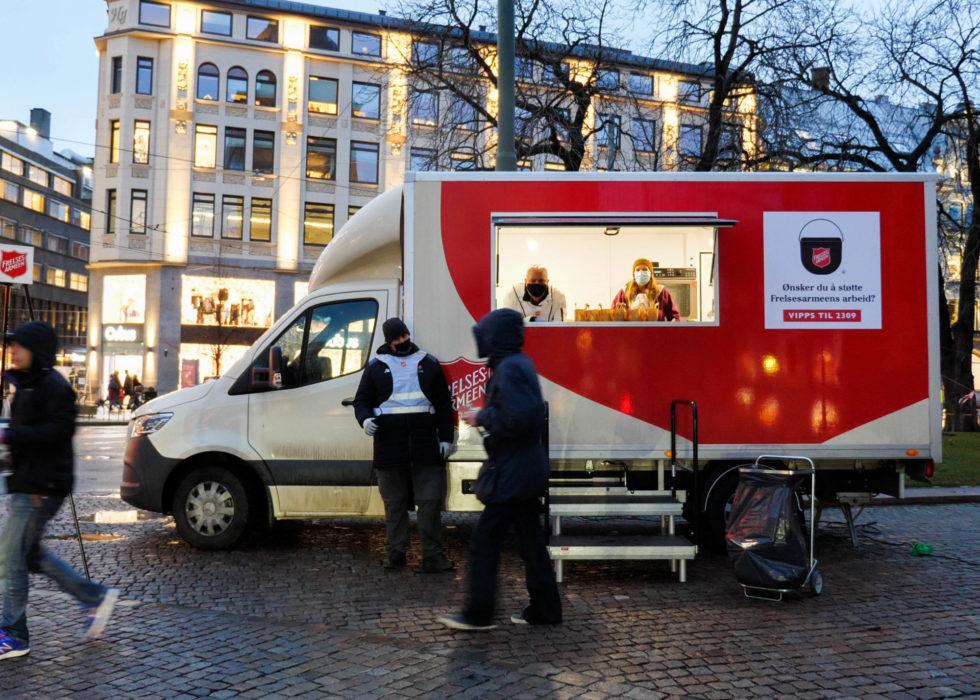 Food truck Frelsesarmeen mathjelp hjelp