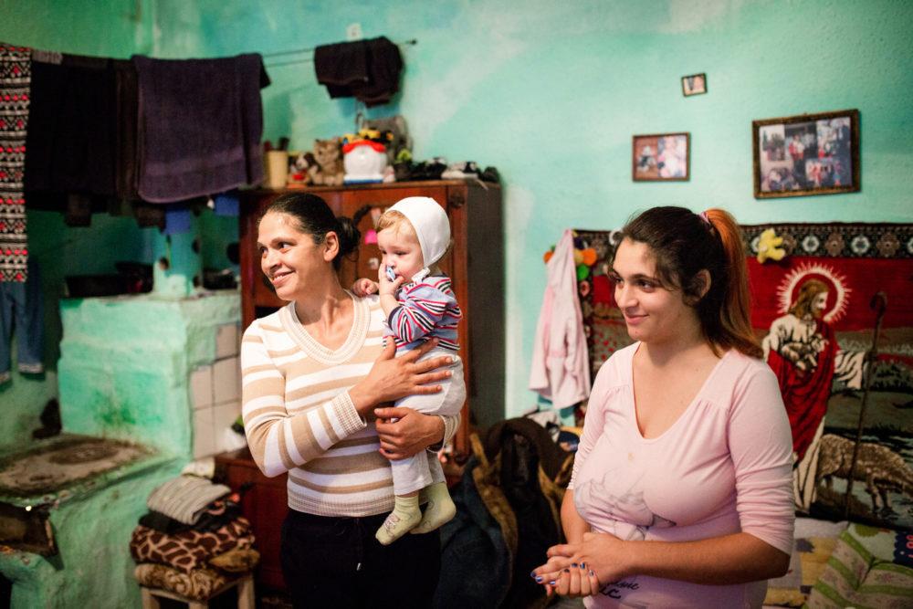 Hjemmebesøk, fattig strøk i Romania.