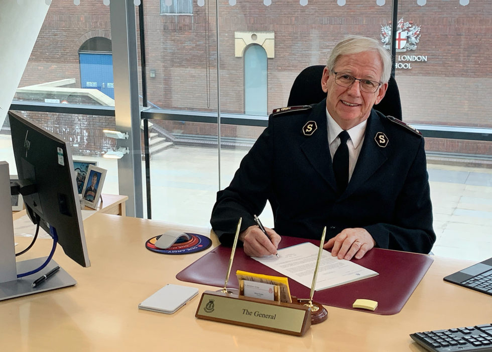 Salvation Army General Brian Peddle signs WHO Vaccine petition
