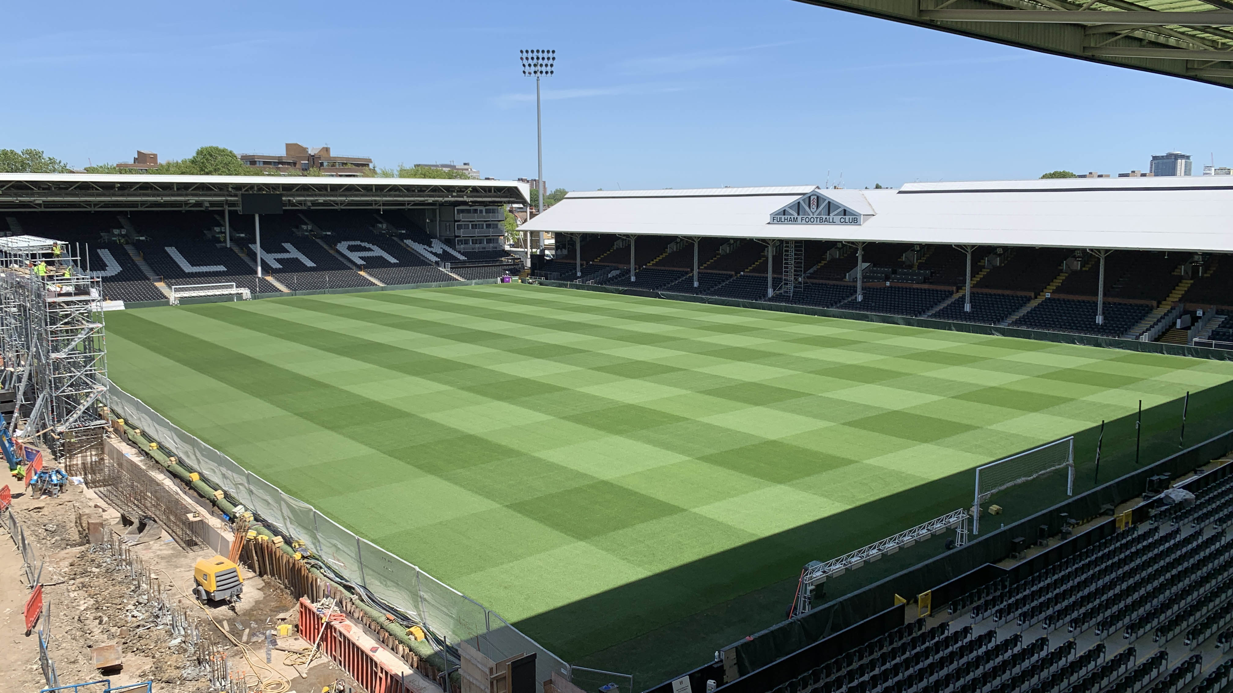 Fulham Fc Preparing Craven Cottage
