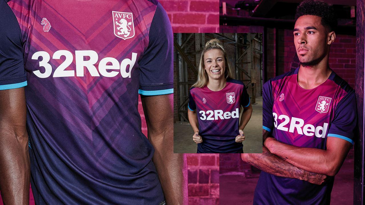 Revealed Aston Villa Third Kit Aston Villa Football Club Avfc