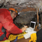 Tinytag temperature and count loggers used to monitor environment in caves